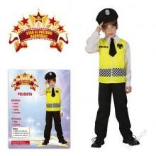 Dětský karnevalový kostým POLICISTA 120 -130cm ( 5 - 9 let )